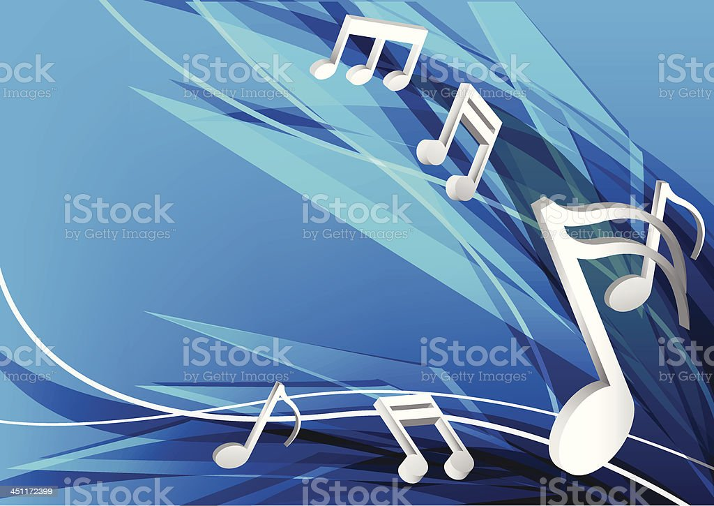 blue music design background royalty-free stock vector art