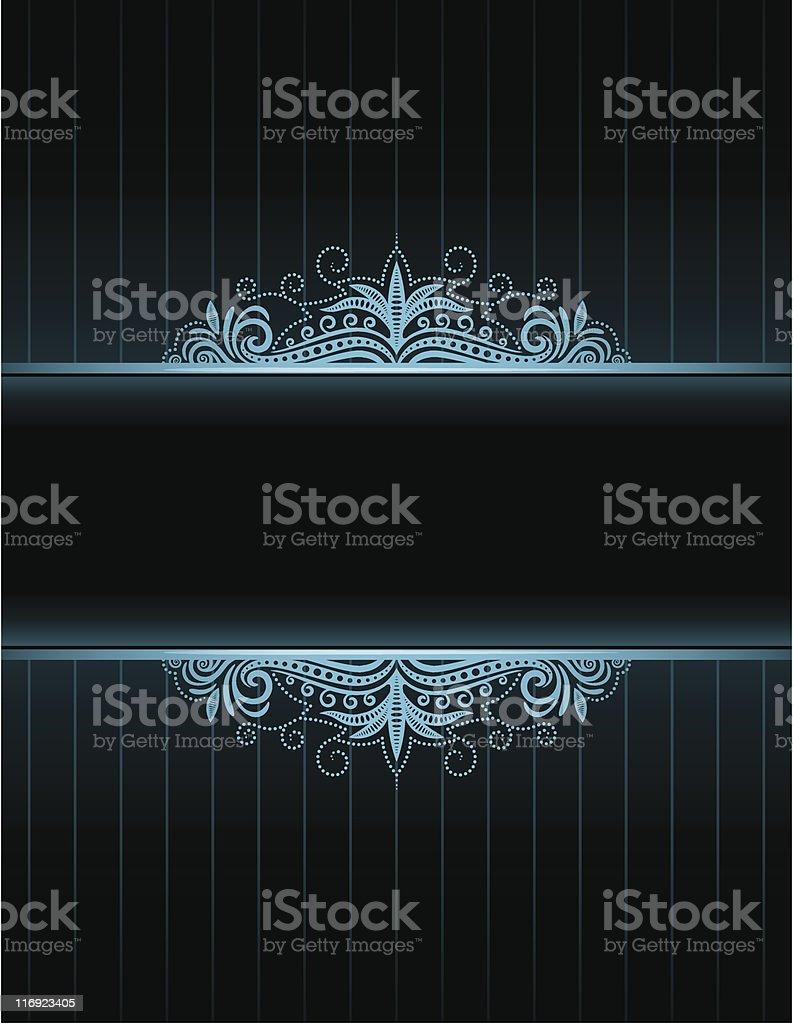 Blue Neon Frame royalty-free stock vector art
