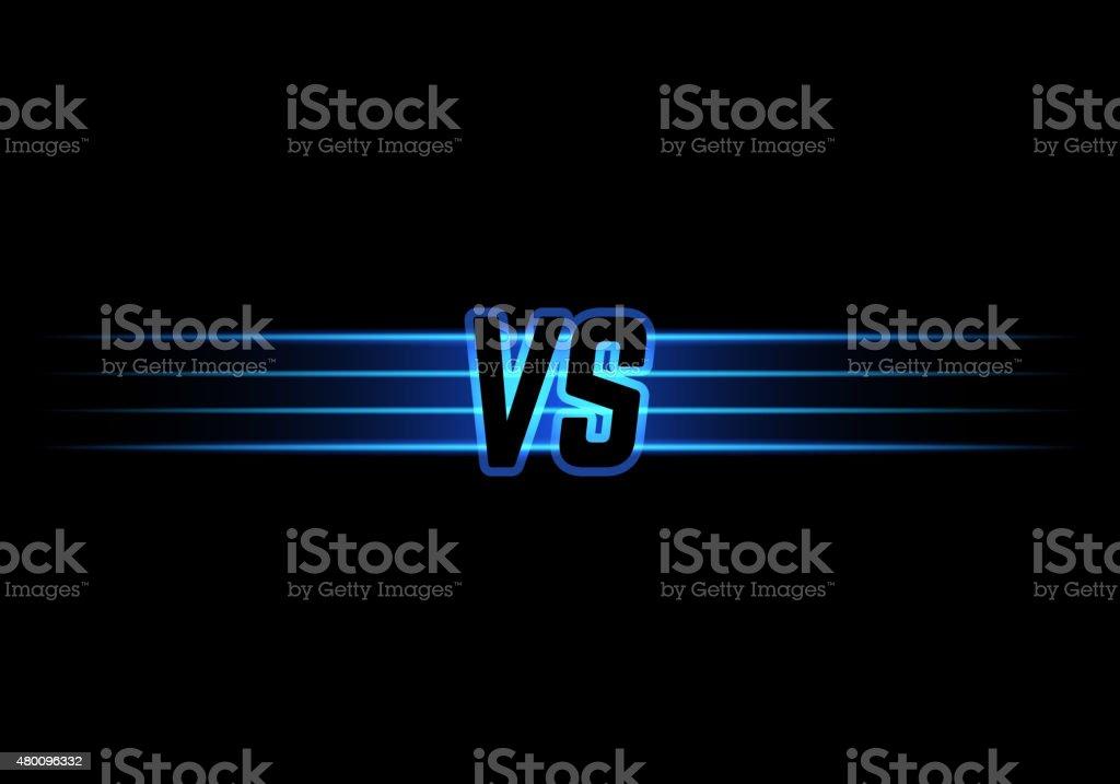 Blue Neon Versus Logo vector art illustration