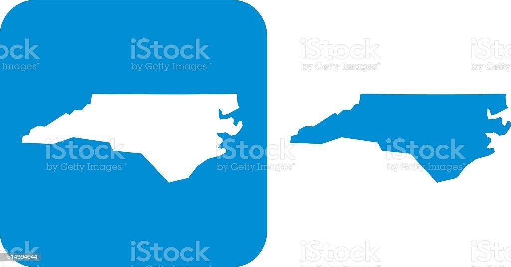 Blue North Carolina Icon vector art illustration