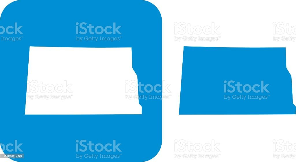 Blue North Dakota Icon vector art illustration