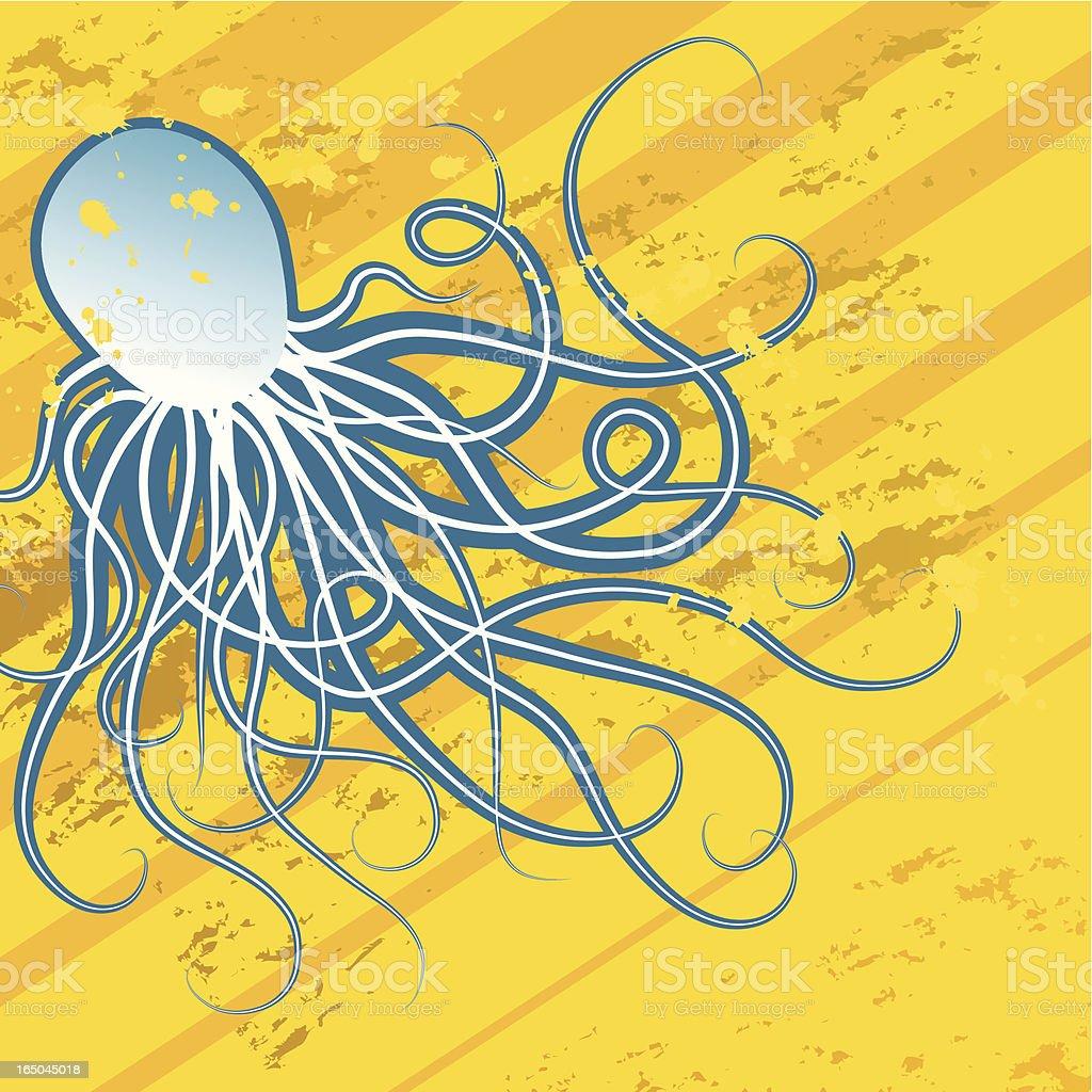 Blue octopus royalty-free stock vector art