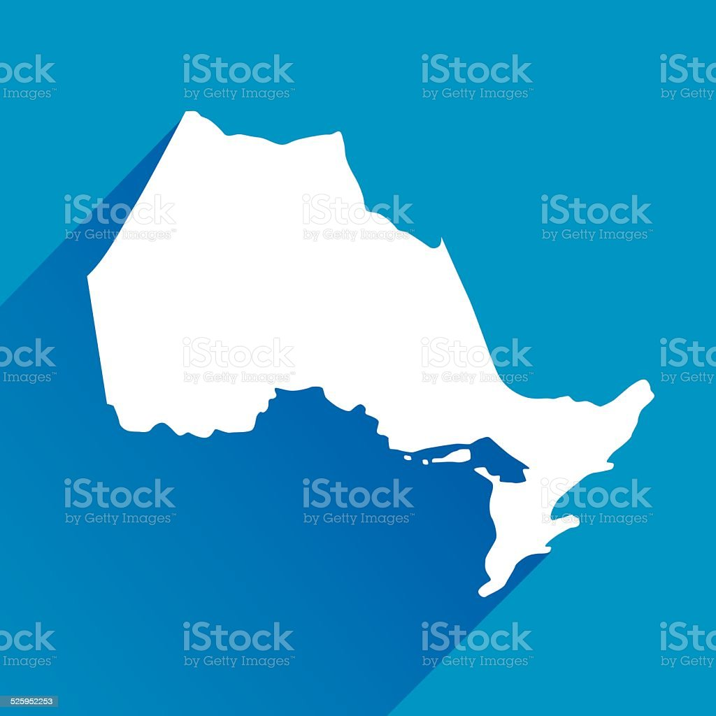 Blue Ontario Map icons vector art illustration