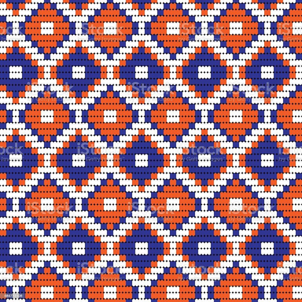 blue orange bead geometric vector art illustration