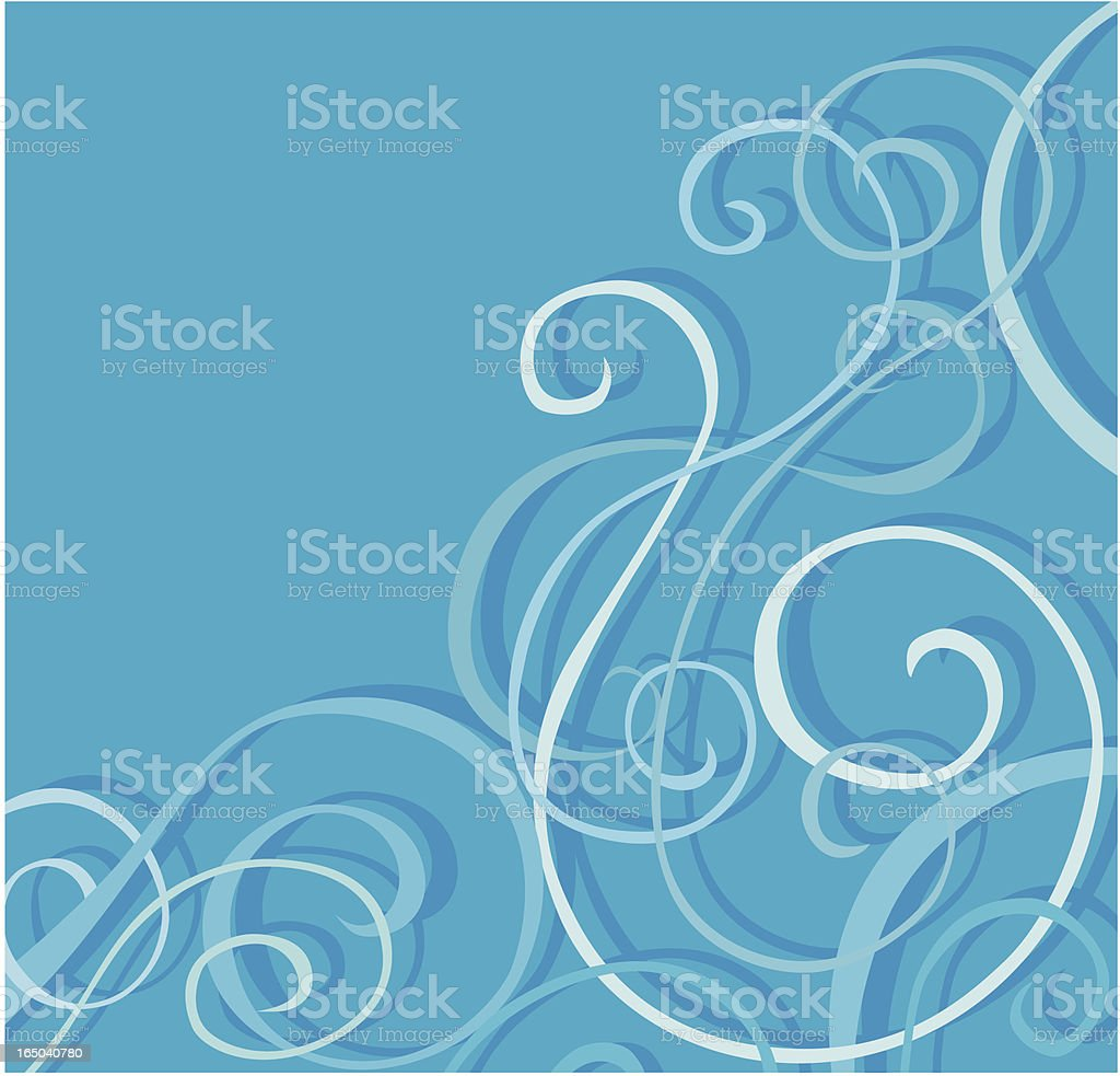 Blue ornament royalty-free stock vector art