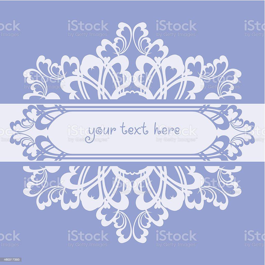 Blue ornate background vector art illustration