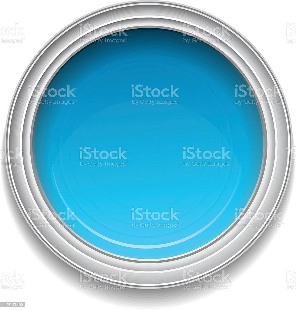 Blue paint can vector art illustration