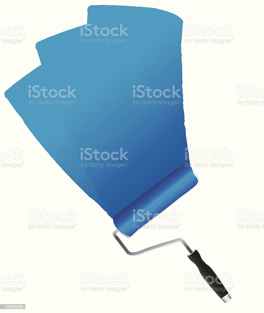 Blue paint on a wall royalty-free stock vector art