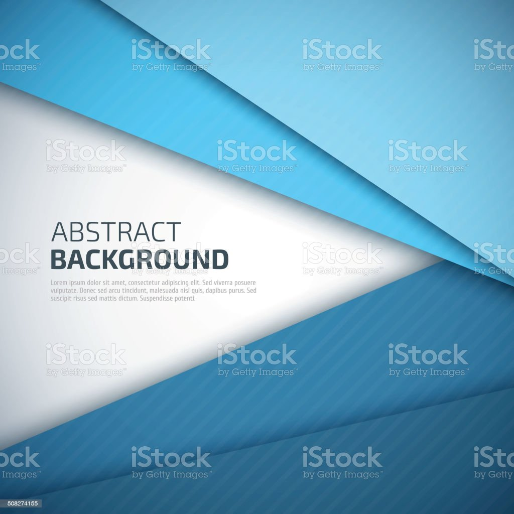 Blue paper layers abstract vector background. vector art illustration