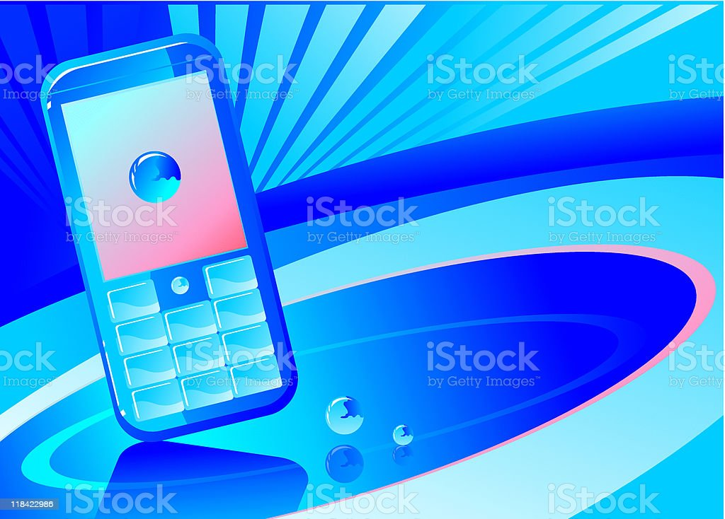 blue phone background royalty-free stock vector art