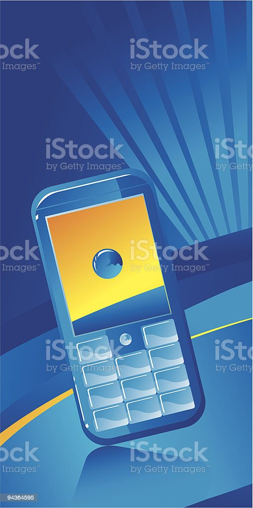 blue phone background vertical royalty-free stock vector art