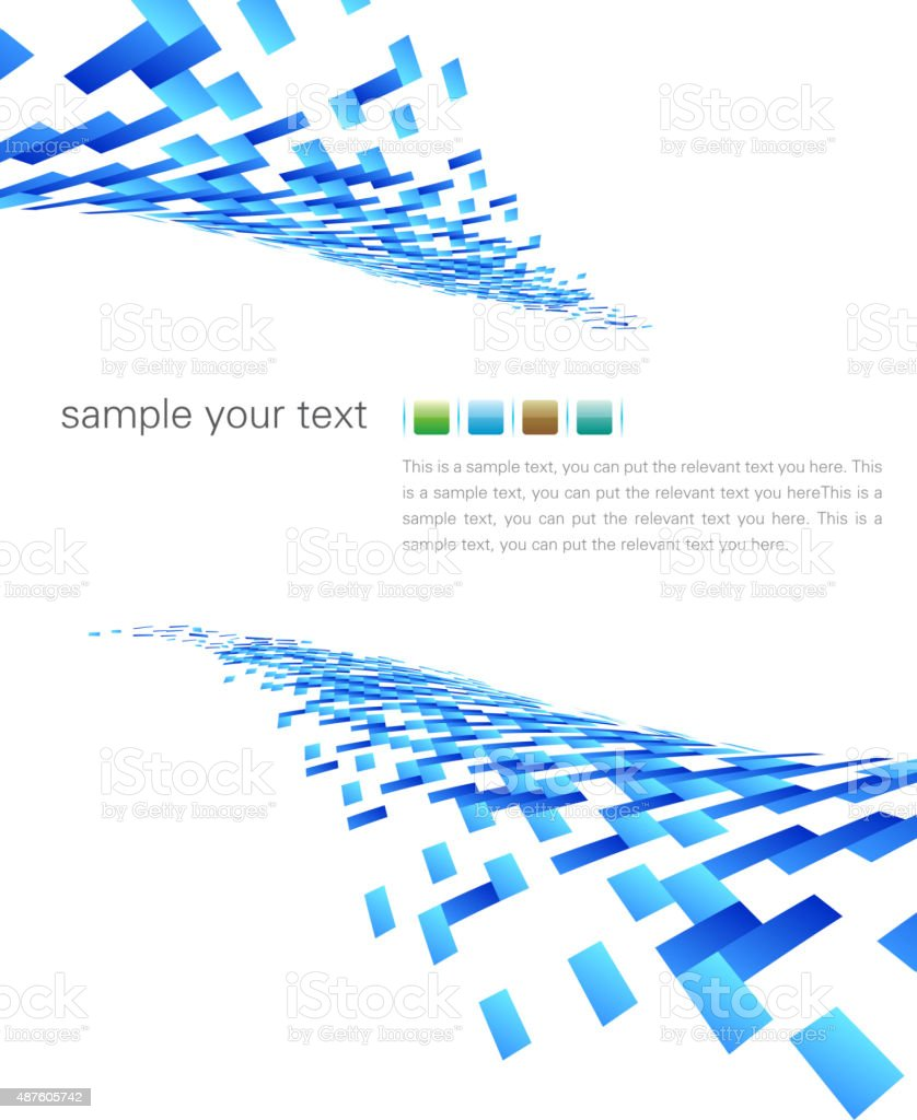 Blue pieces background vector art illustration