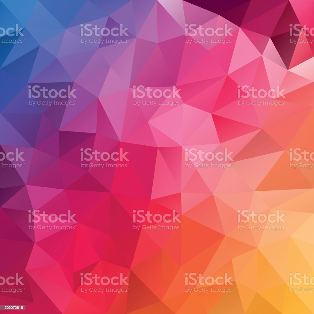 blue pink yellow spectrum abstract polygon background vector art illustration
