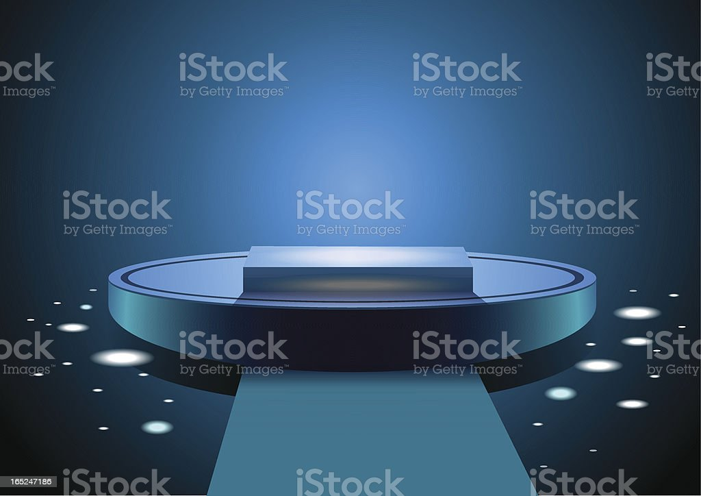 Blue podium royalty-free stock vector art
