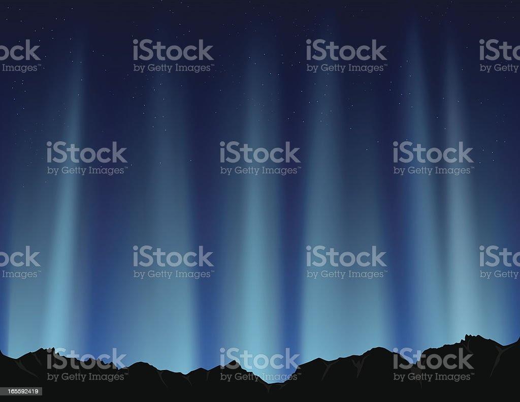 Blue Polar Lights royalty-free stock vector art