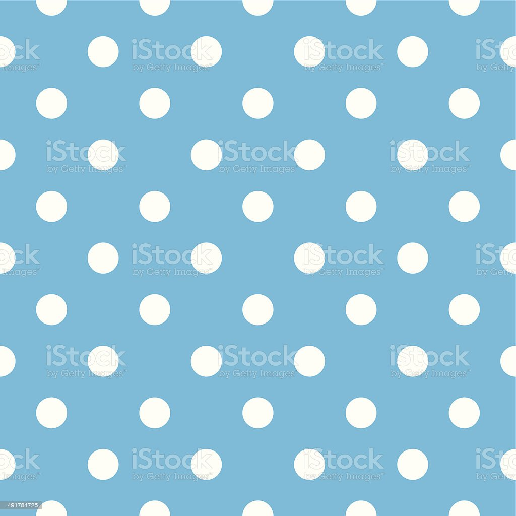 Blue polka dot seamless pattern design vector art illustration