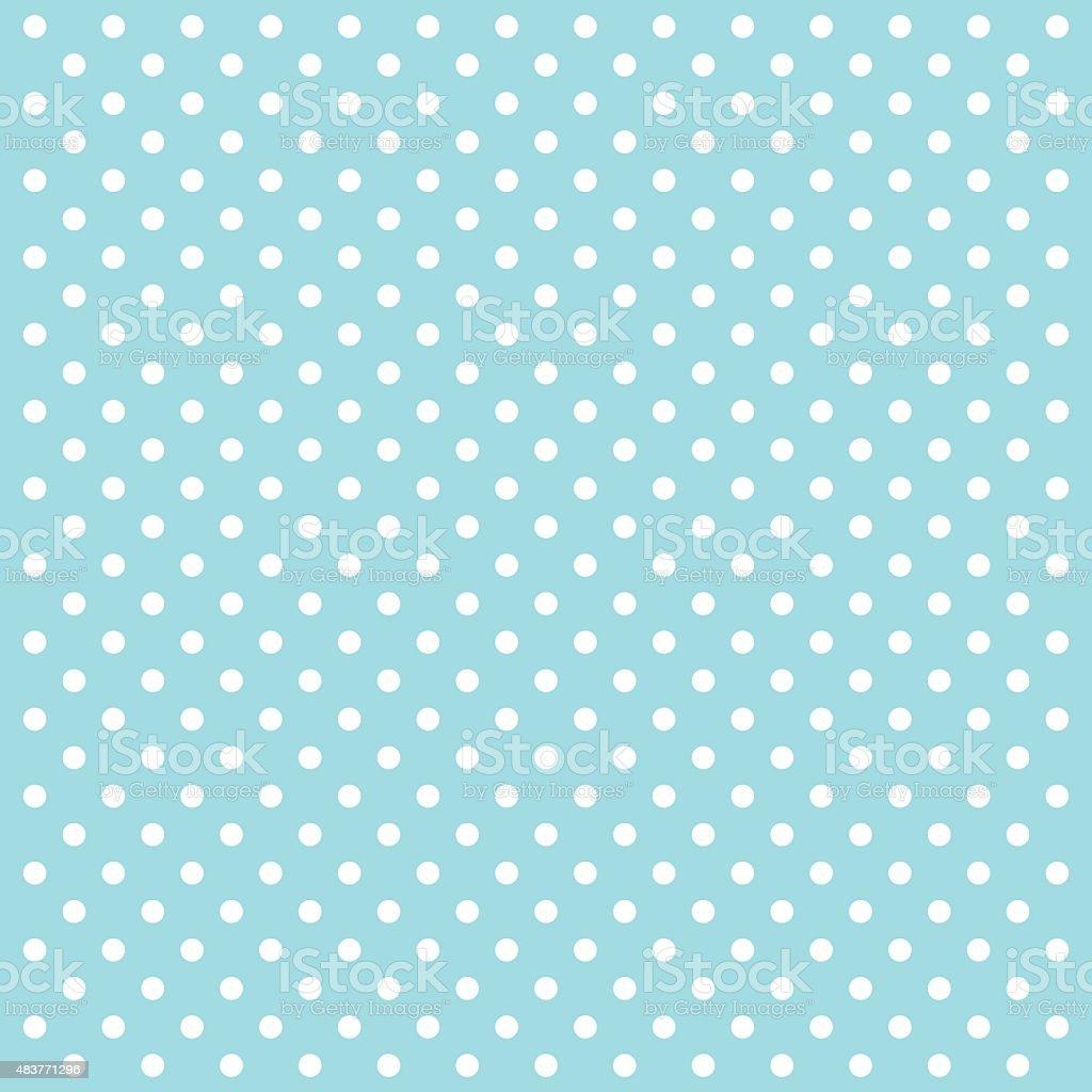Blue Polka Dots Vector Background - VECTOR vector art illustration