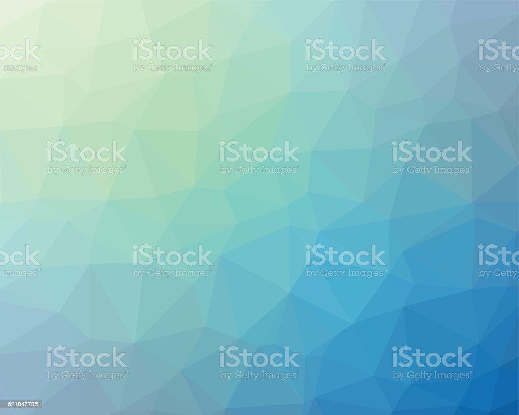 Blue polygon vector background vector art illustration