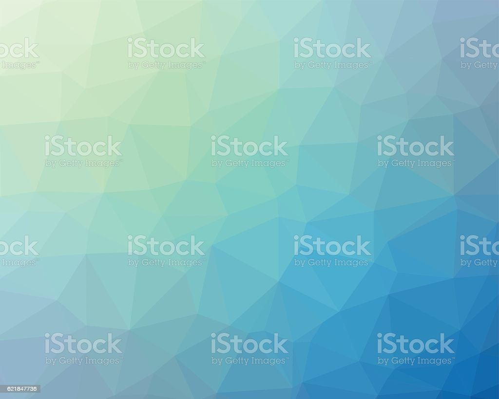 Blue polygon vector background vector art illustration