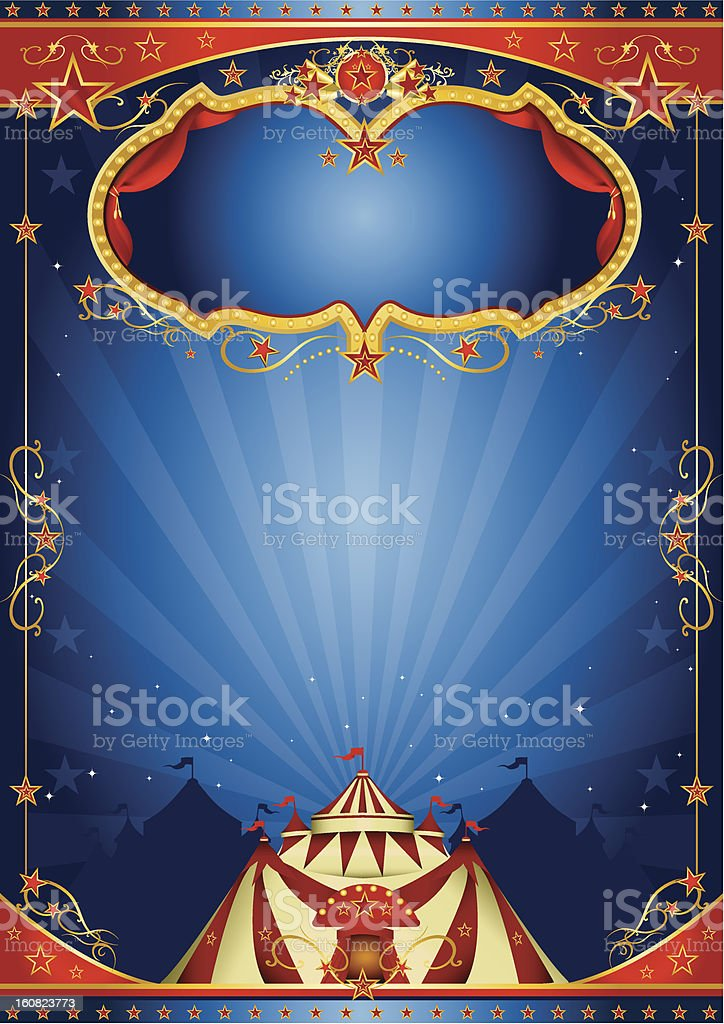 blue poster circus stock photo
