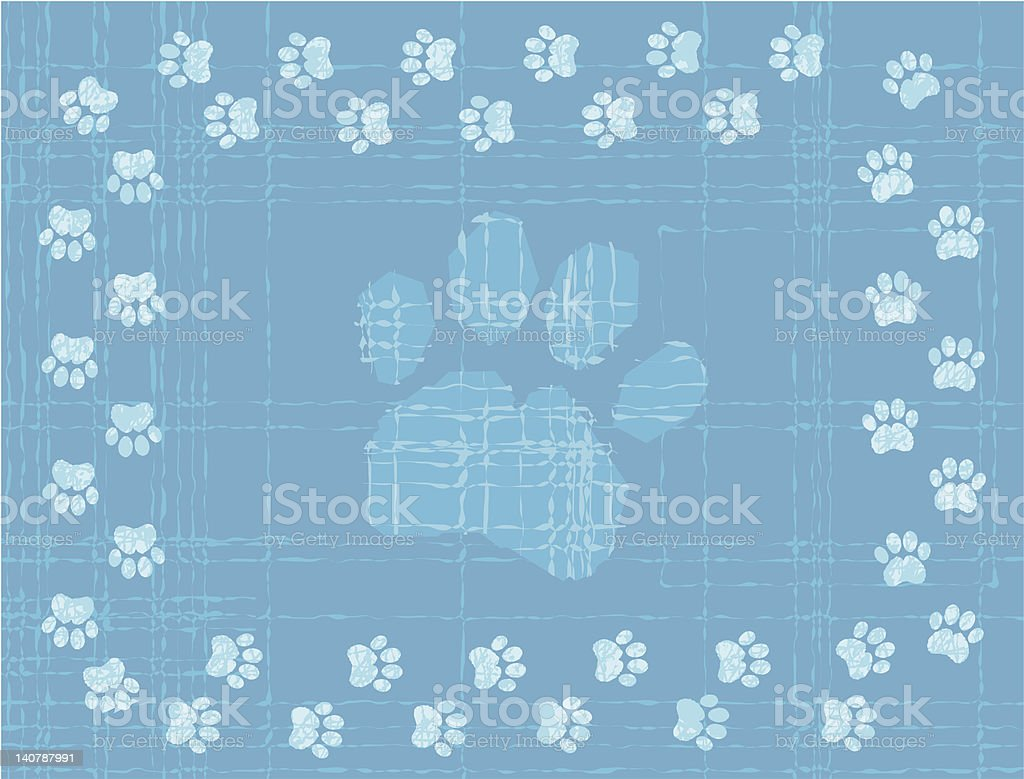 Blue (Paw) Prints royalty-free stock vector art