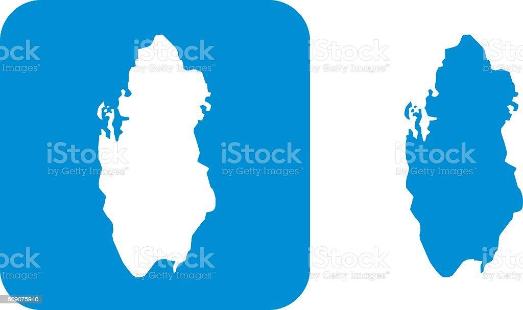 Blue Qatar Icons vector art illustration