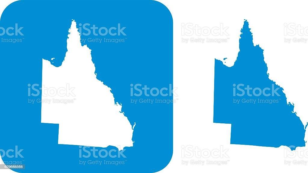 Blue  Queensland Icons vector art illustration