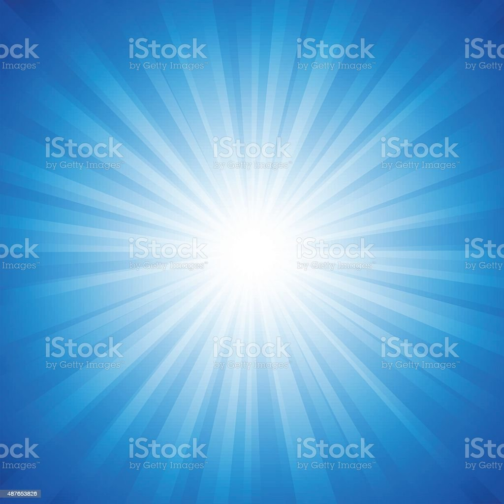 Blue Radiance Background vector art illustration