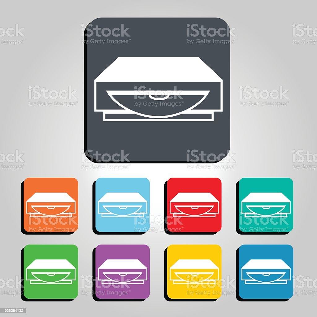 CD, DVD, Blue Ray Player Vector Icon Illustration vector art illustration