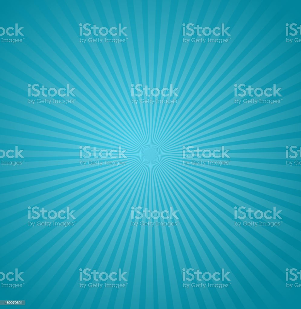 Blue rays background. Burst Vector illustration vector art illustration