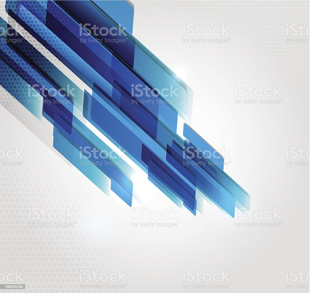 Blue rectangles forming an abstract background royalty-free stock vector art