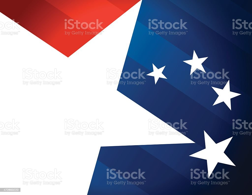 Blue red and white Stars and Stripes vector art illustration
