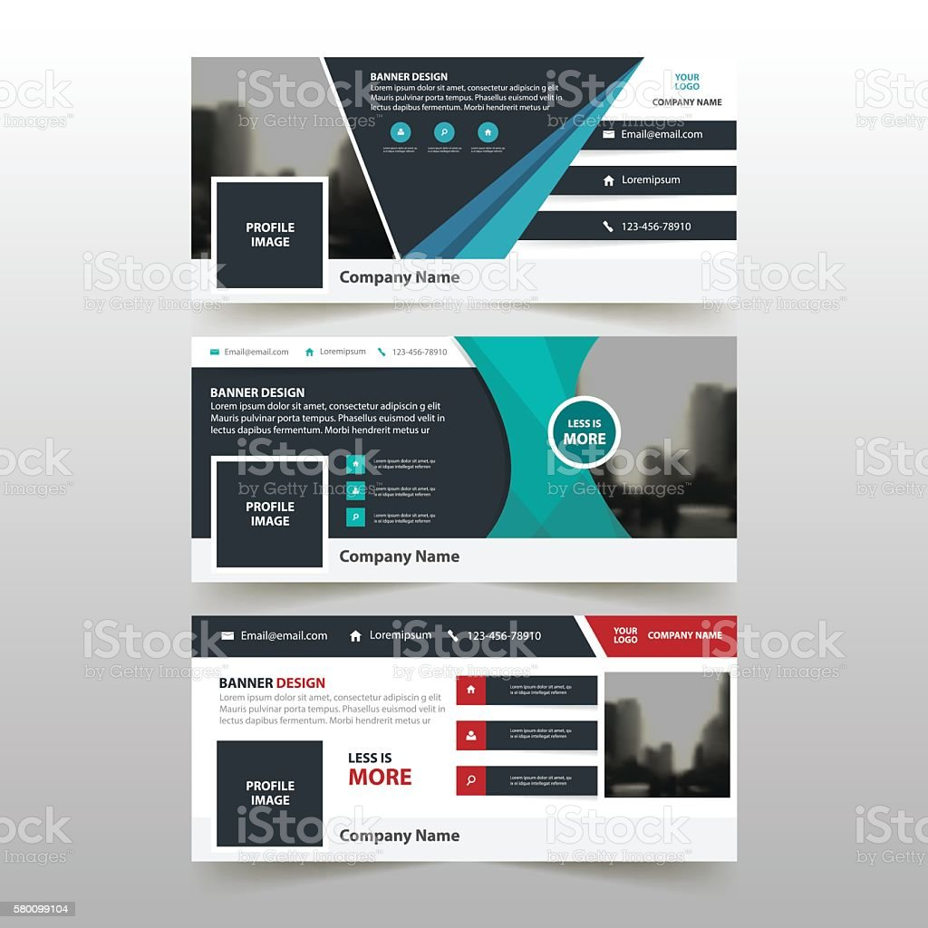 blue red green triangle abstract corporate business banner