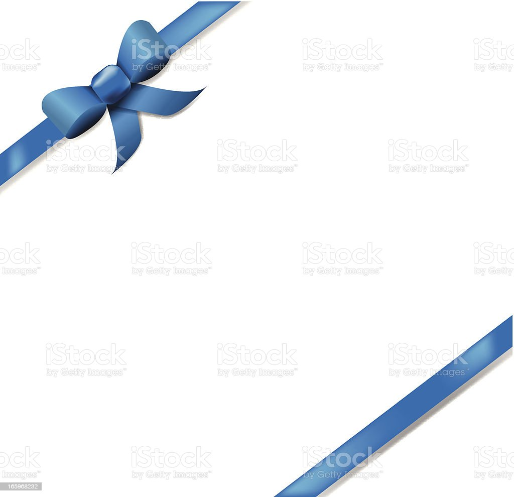 Blue Ribbon Background Banner vector art illustration