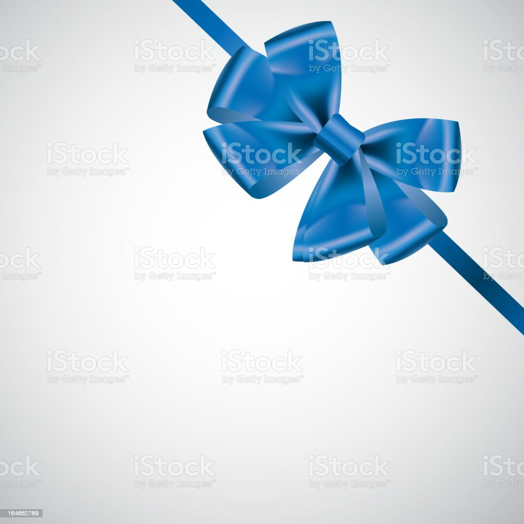 blue ribbon with bow vector illustration royalty-free stock vector art