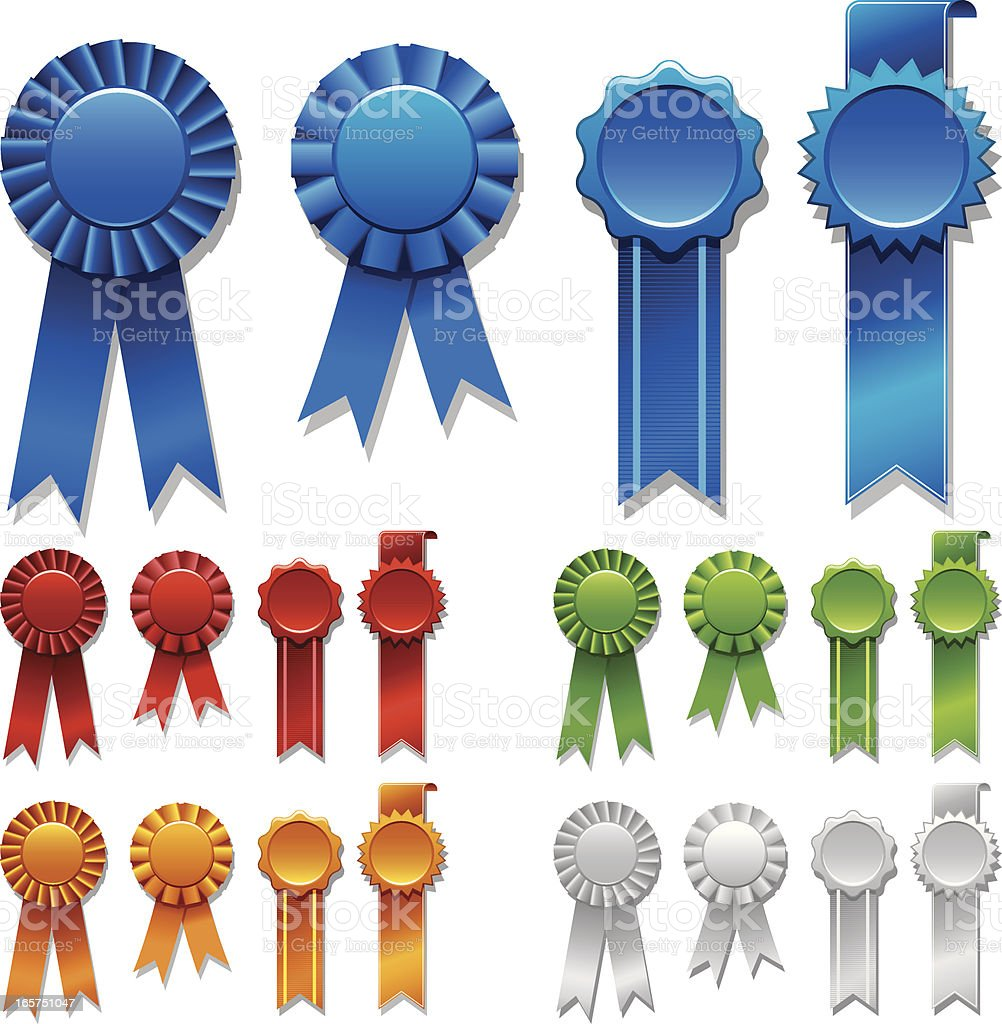 Blue Ribbons Award royalty-free stock vector art