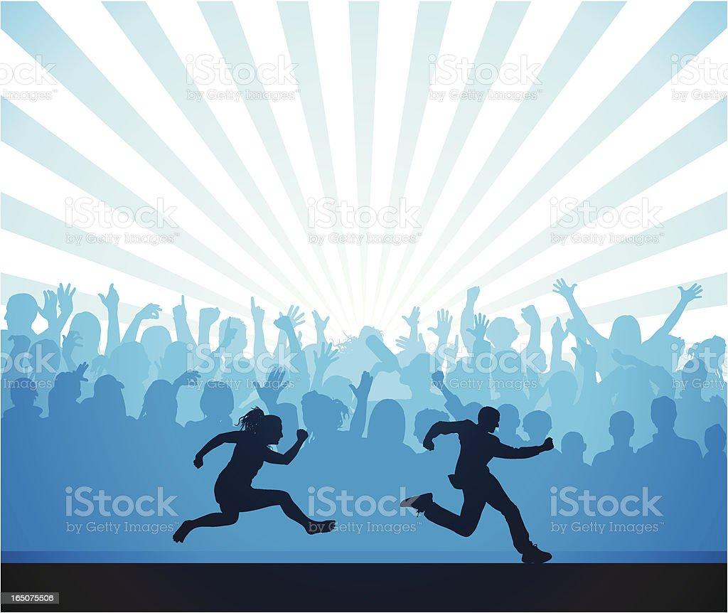 Blue Runners royalty-free stock vector art
