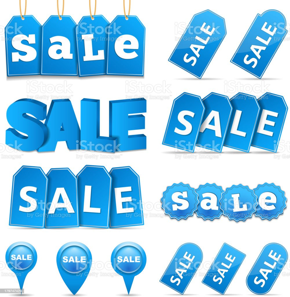 Blue Sale Banners royalty-free stock vector art