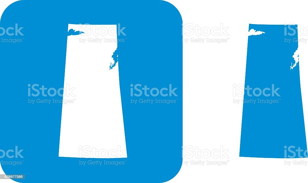 Blue Saskatchewan Icon vector art illustration