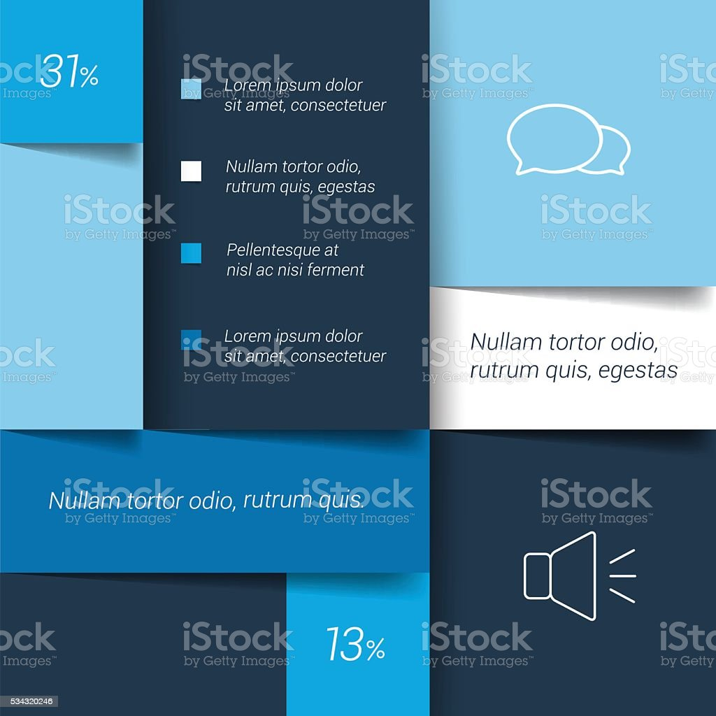 Blue schedule, tab, banner. Minimalistic vector design infographic. vector art illustration