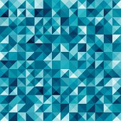 Blue seamless geometric abstract background