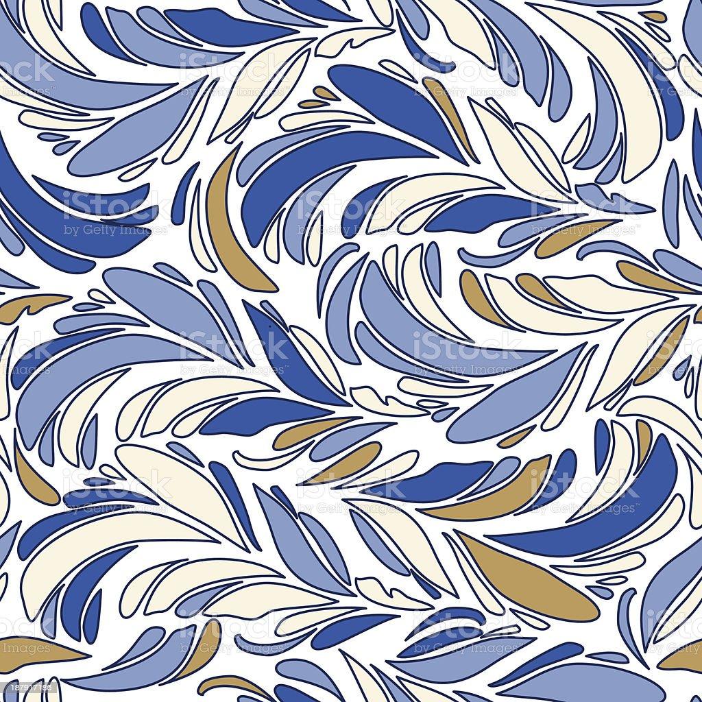Textura vector sem costura azul com penas vetor e ilustração royalty-free royalty-free