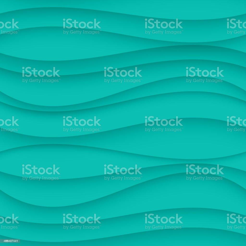 Blue seamless Wavy background texture. vector art illustration
