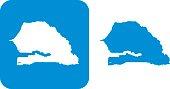 Blue Senegal Icons