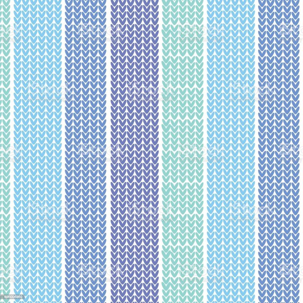 blue shade vertical striped knitting pattern background vector art illustration