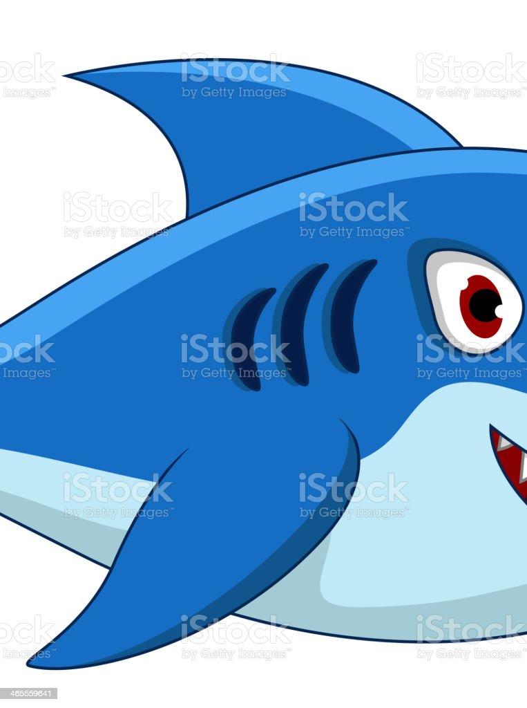 blue shark cartoon for you design royalty-free stock vector art