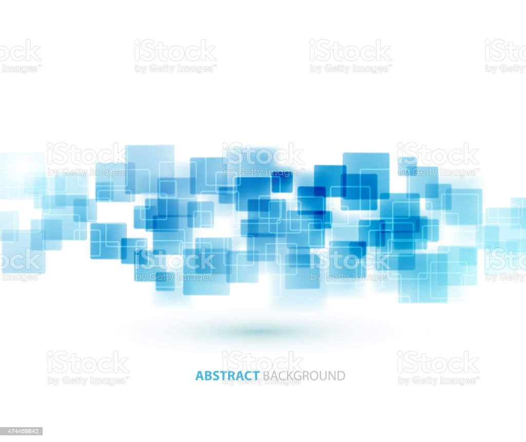 Blue shiny squares technical background. Vector vector art illustration
