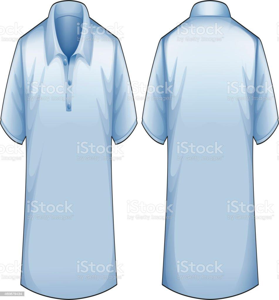 Blue shirt vector art illustration