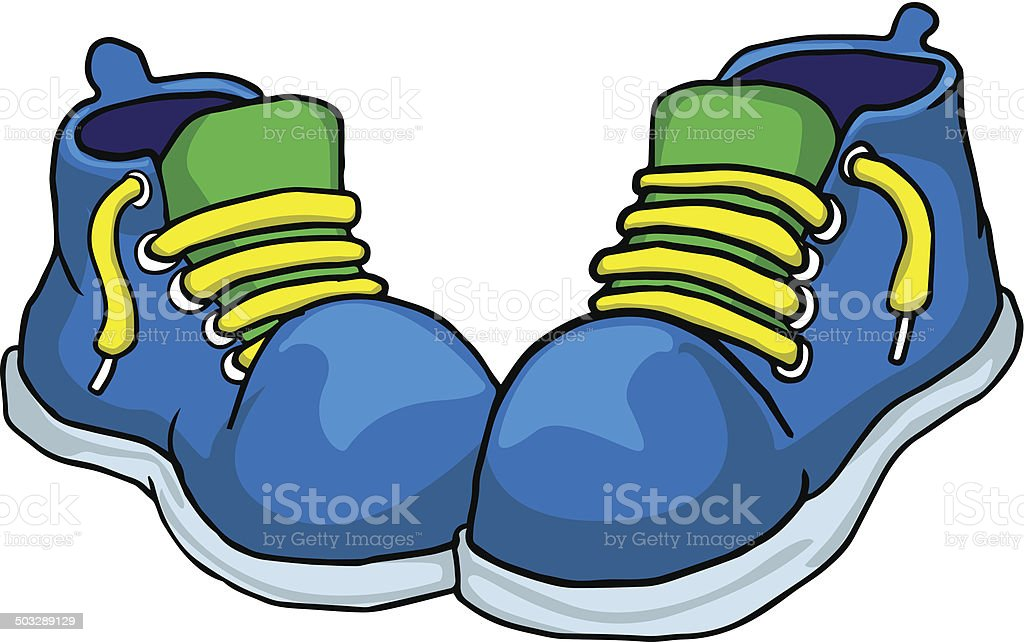 Blue shoes royalty-free stock vector art