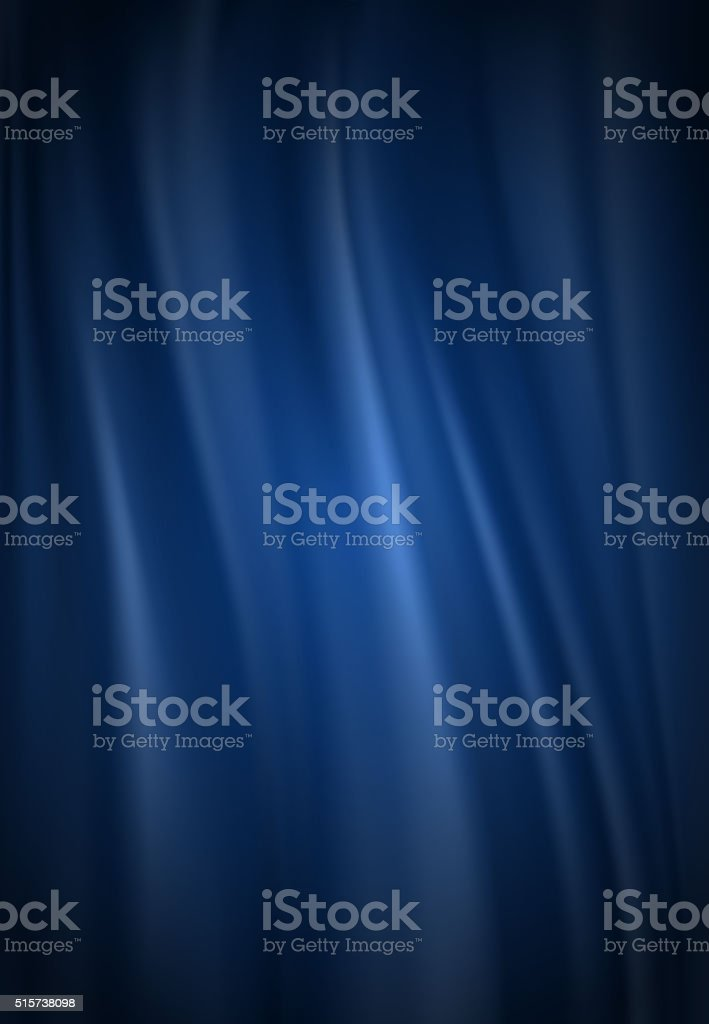 Blue silk background vector art illustration